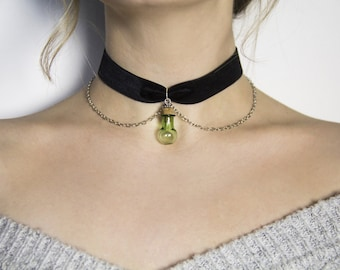 Magic Vial Black Velvet Choker