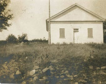 vintage photo 1906 One Room School House White Lake Road Bethel New York