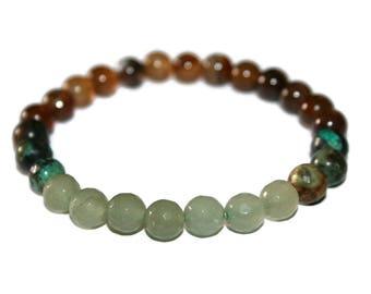 Aventurine Bracelets, Men Zen Bracelet, Men Mala Bracelet, Bracelet Homme, Men Fashion Bracelet, Buddhist Bracelet, Agate Bracelet for Men