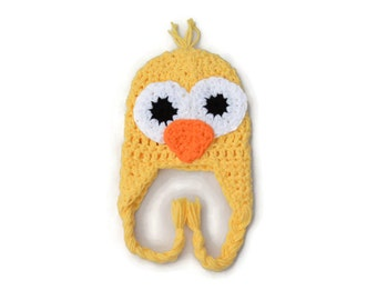 Crochet Baby Hat, Baby Boy Hat, Crochet Baby Chicken Hat, Baby Animal Beanie, Easter Hat for Baby