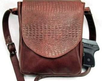 Soft Vertical Concealed Carry Handbag