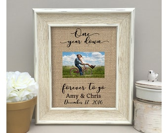 ON SALE Personalized  for Husband for Wife  Anniversary Gift  One Year First Anniversary Gift  For Husband For Wife