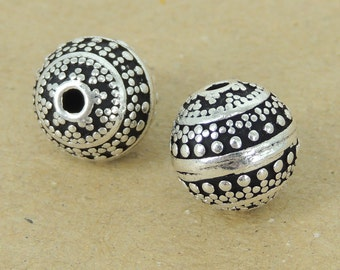 2 PCS 925 Sterling Silver Round Bead Vintage WSP386X2 Wholesale: See Discount Coupons in Item Details