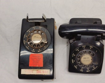 Vintage Rotary Dial Wall & Desk Phone Lot