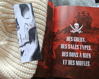 Pirate skull bookmark