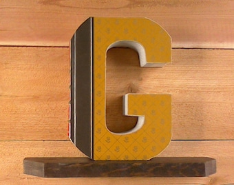 Cut book letters etsy ready made letter letter booksletter cut from books readers digest condensed books cut book letters book art spiritdancerdesigns Gallery