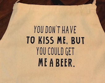 custom apron chef kitchen grill beer