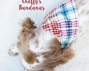 Caprice Plaid Dog Collar Bandana