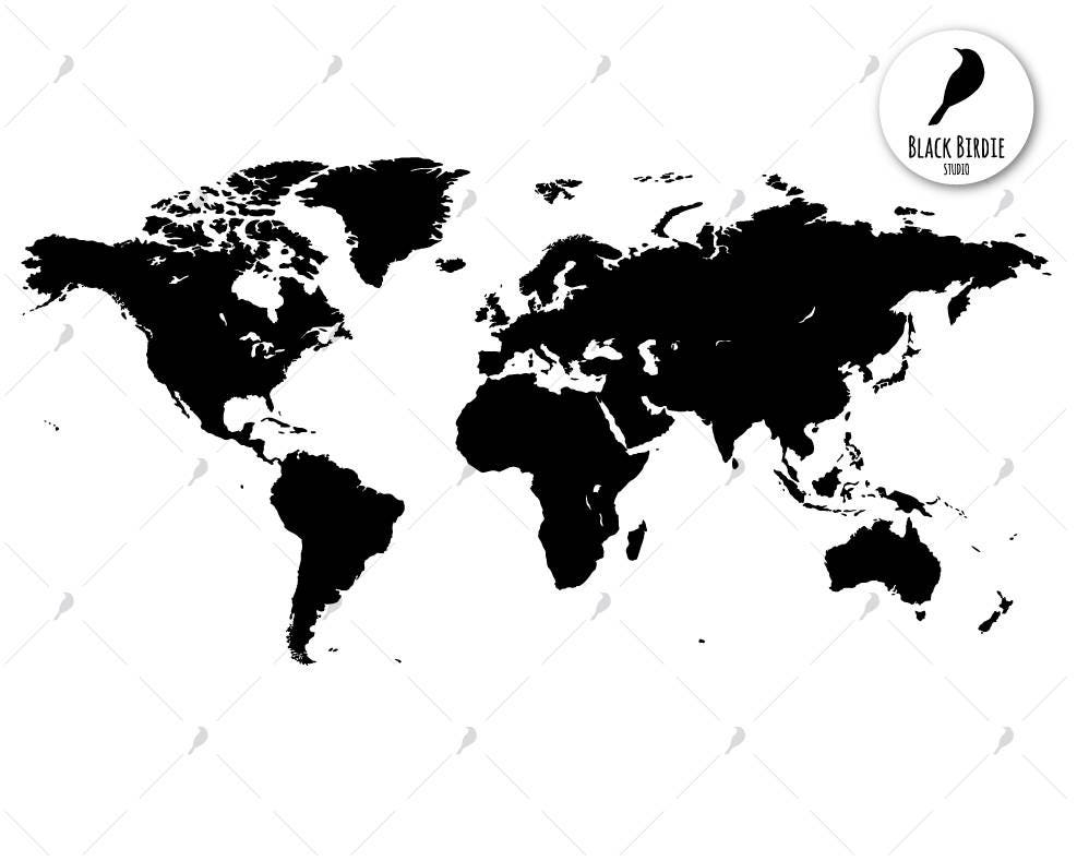 World map svg world map clipart world svg continents svg instant download zoom gumiabroncs Gallery