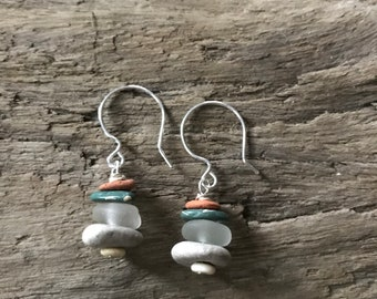 Hint of Teal Cairn Earrings