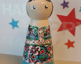 PERSONALIZED peg doll/personalized gift//Personalized cake topper