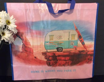 Vintage Trailer Tote Bag
