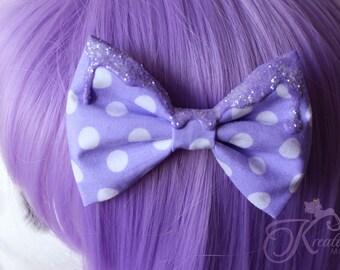 melting Glitter pastel bow (lilac)