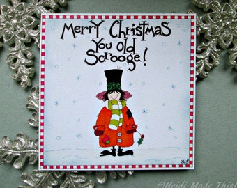 SALE. Reduced to Clear. Clearance. Cheap Handmade Christmas Cards. Funny Dad Card. Funny Husband Card.