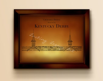 2018 Derby Winners inSpired Print - Churchill Downs Typography