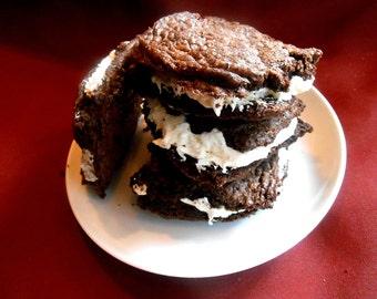 Fudge Brownie Wiches Cream Cheese Butter Cream Filled