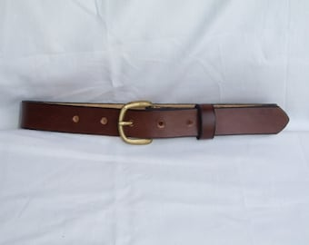 Child's Handmade Brown Leather Belt