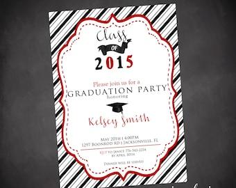 Graduation invitations - Graduation Party - Graduation Invites - Party Invitations - Custom Party Paper Supplies