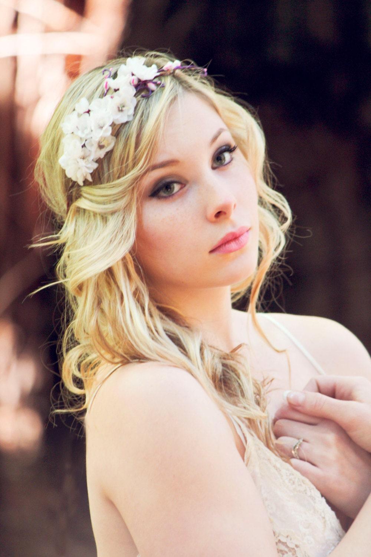 White flower fascinator wedding accessory bridal hair band zoom mightylinksfo