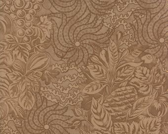 Fig Tree Fabric - Hazel and Plum - Brown Fig Tree Quilt Fabric - Brown Tonal Quilting Fabric By The 1/2 Yard