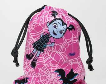 Vampirina, Party Bags, Birthday Party, Fabric Bags, Candy Bags, Treat Bags, Favor Bags, Goodie Bags, 5x7, Drawstring Bags