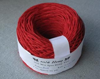 Red 10/6 Hemp Yarn
