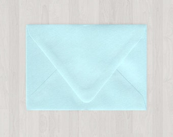 10 A6 Envelopes - Euro Flap - Light Blue - DIY Invitations - Envelopes for Weddings and Other Events