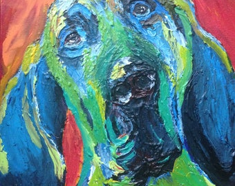 Custom Painted Pet Portrait, 12 x 12 x 1.5 deep frameless canvas, acrylic