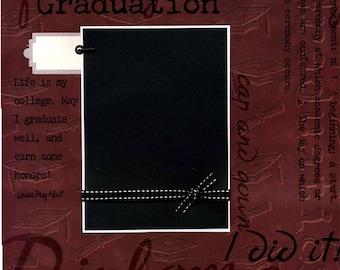 Graduation - Premade School Scrapbook Page