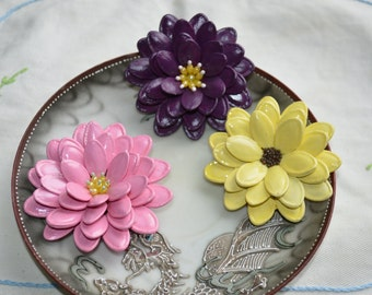 Pumpkin Seed Blossom Brooches