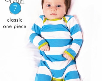 Baby sewing pattern pdf // one piece coverall // short and long sleeve // Preemie to 3T // #7