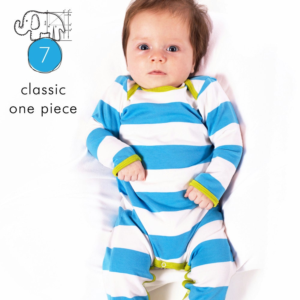 Baby sewing pattern pdf // one piece coverall // short and