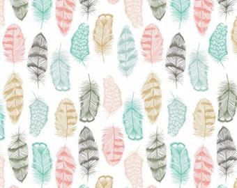 Neutral Baby Bedding - Bloom Alma Mini Sheet / Feather Crib Sheet /Feather Crib Bedding Set / Boho Changing Pad Covers /Mini Cot Sheets