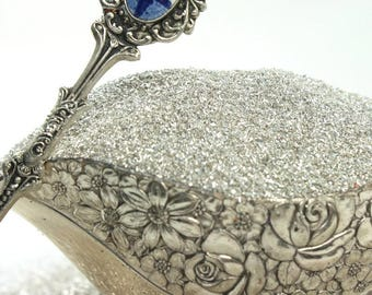 Finely ground German Glass Glitter | fine grit | silver
