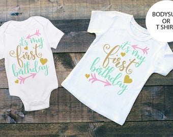 Its My FIRST Birthday - First Birthday - 1st Birthday - 1st Birthday Outfit - 1st Birthday Shirt - 1st Birthday Party - Baby Clothing