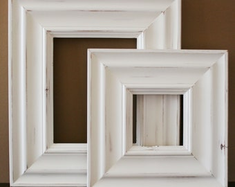 16x24 Picture Frame / Madera Style / White or Black / Knotty Alder