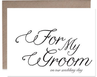 To My Groom Our Wedding Day Card - To My Groom Card - Wedding Card - Letterpress Card - Card To Groom From Bride