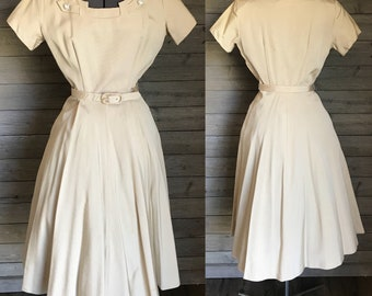 1940's Champagne New Look Trudy Hall Vintage Dress
