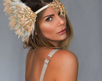 fairy crown feather headpiece