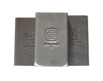 "Perfectly Imperfect Men's Soap ""Grind"" 6oz Large Bar Ego Soap Company.  Natural and Handcrafted Cold Processed Charcoal Soap"