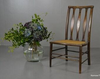 Edwardian Beech & Cane Chair
