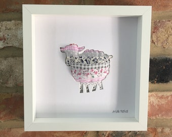 Martha - Sheep - 3D Art - Kids Room Decor - by House of Milly