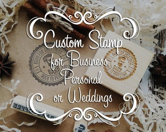Custom Logo Stamp, Invitation or Save the Date, Business Logo Stamp