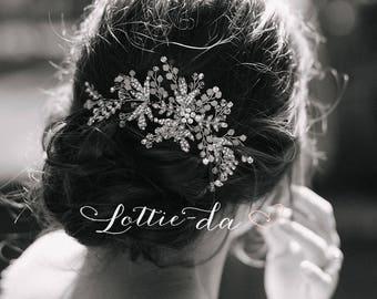 Wedding Hair Accessory Hair Vine Headpiece, Opal Flower Hair Crown, Hair Vine Wreath, Wedding Headband - 'ZOYA'