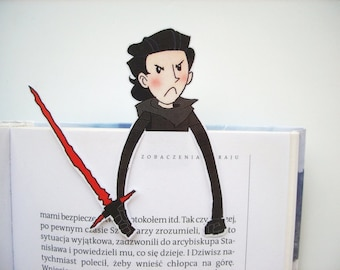 Kylo Ren - Star Wars Force Awakens bookmark fathers day gift mask lightsaber