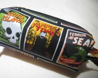 Halloween B Horror Movie Monster Pencil Bag Craft Bag Cosmetic Bag Makeup Bag Shaving Kit LARGE