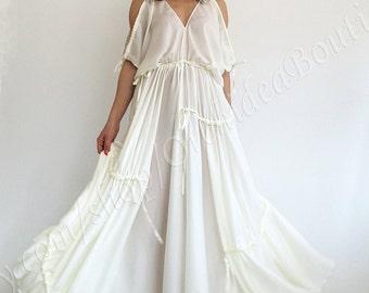Beach wedding dress/ White maxi dress/ Kaftan dress/ Loose maxi dress/ Summer kaftan dress/ Maternity dress/ Convertible dress/ Long tunic