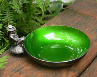 Vintage Reed & Barton Pewter Leprechaun Finger Bowl, Vintage Trinket Dish, Vintage Nut Dish