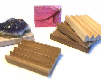 34 elegant cedar soap dishes - The BOARDWALK - less surface area means less sticking - Western Red Cedar
