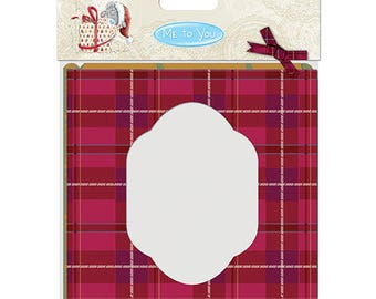 SET KIT MAIL 12 PRINTED RED AND GREEN TARTAN VINTAGE + SCRAPBOOKING SCRAP CARD ENVELOPE